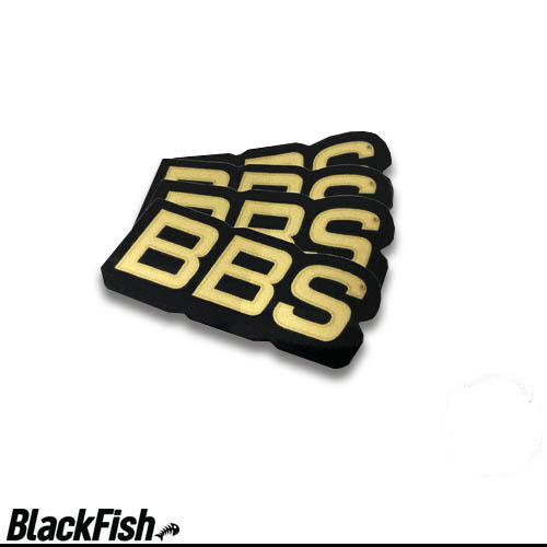 BBS Original USA Rim Decals Black / Gold
