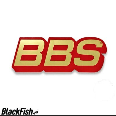 BBS Original USA Large Decal Red / Gold