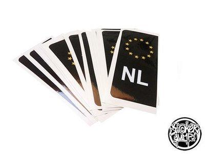 Kentekensticker NL (zwart)