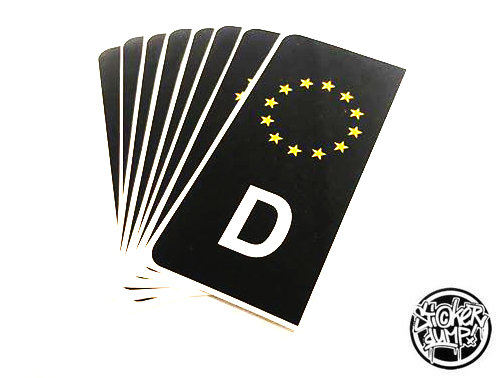 Kennzeichen D (schwarz)