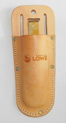 LÖWE leather pruner pouch with metal clip and belt loop