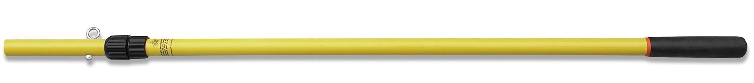 12' telescopic pole with dual locking collar and rope anchor