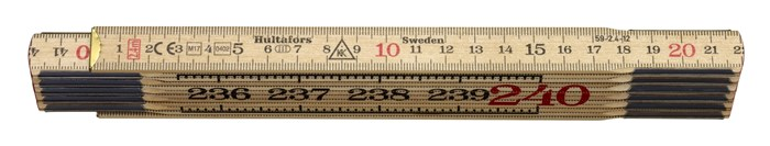 Hultafors Wooden Folding Rule 59 — 2.4m, 12 sections