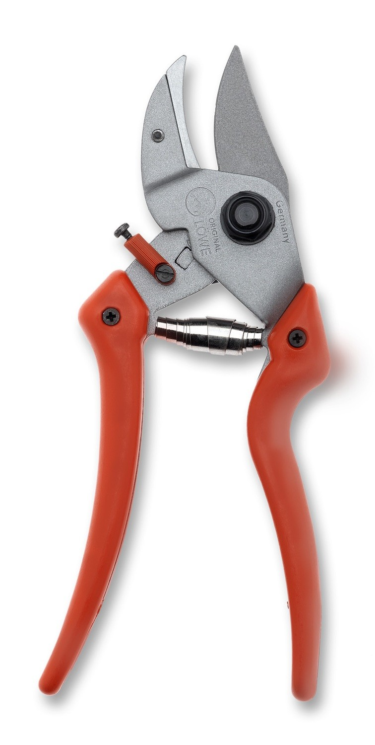 LÖWE 7.107 Anvil pruner with short cutting head and curved blade