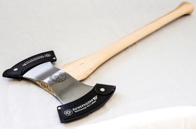 Ox-Head Competition Axe—Double Bit Throwing Axe, 3 lbs.