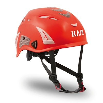 Kask Superplasma HI VIZ Helmet — Red Fluorescent