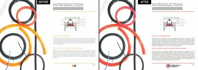 Brochure photoretouching
