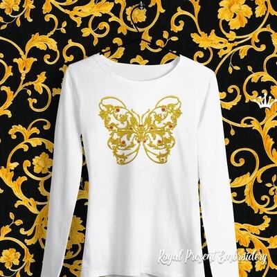 Бабочка в стиле Версаче Дизайн машинной вышивки - 6 размеров