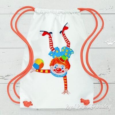 Клоун Акробат Дизайн машинной вышивки - 3 размера