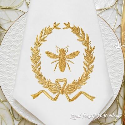 Пчела в рамке Дизайн вышивки - 2 размера