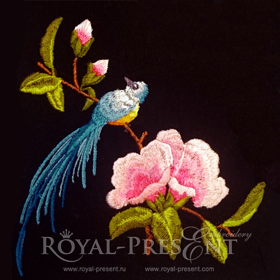 machine embroidery designs birds