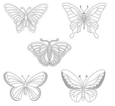 Набор дизайнов машинной вышивки Бабочки