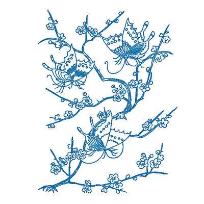 Дизайн машинной вышивки Весенние бабочки - 4 размера