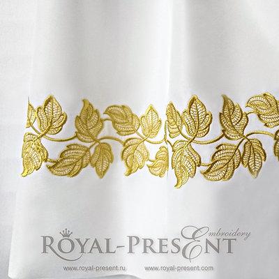 Дизайн машинной вышивки Кружевные листья