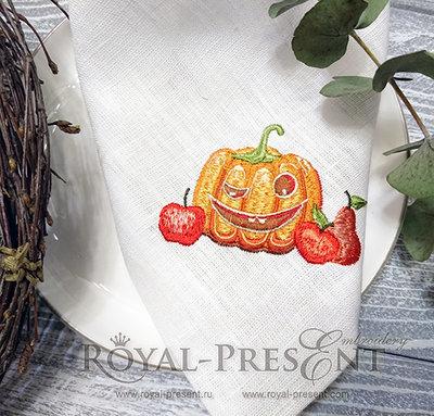 Дизайн машинной вышивки Осенняя Тыква