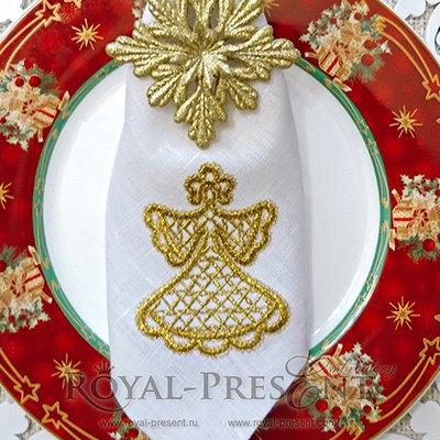 Дизайн машинной вышивки Кружевная Снегурочка