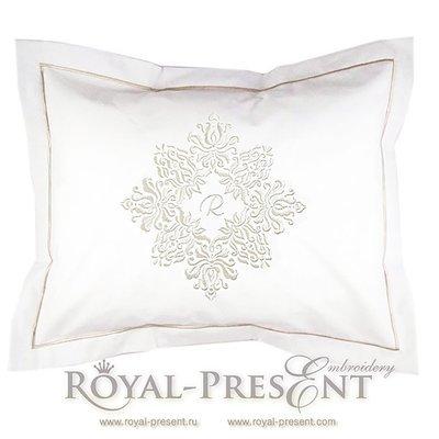 Дизайн машинной вышивки Винтажный декор для декоративной подушки