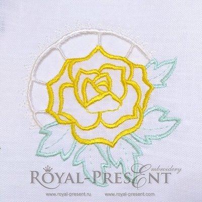 Дизайн машинной вышивки Роза ришелье