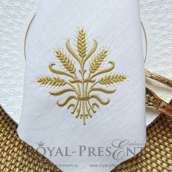 Дизайн для машинной вышивки Золотые колоски