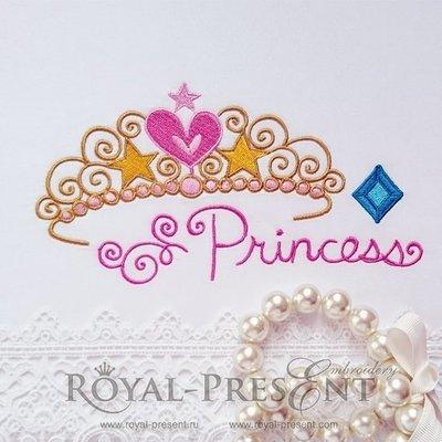 Дизайн машинной вышивки Тиара для принцессы