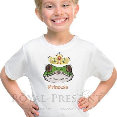 Дизайн машинной вышивки Принцесса лягушка - 2 размера