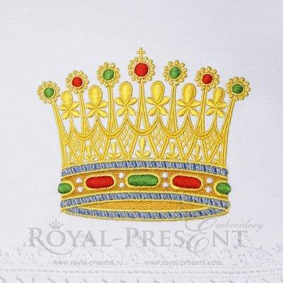 Дизайн для машинной вышивки Золотая Корона