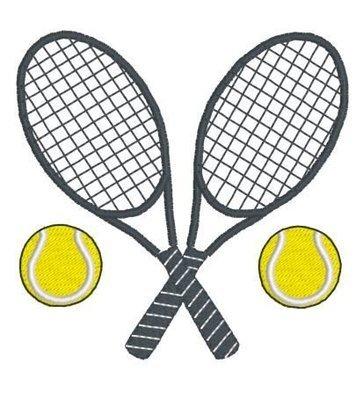 Дизайн машинной вышивки Теннисные ракетки