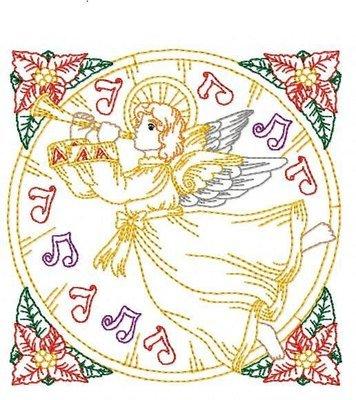 Дизайн машинной вышивки Квилт блок Ангел