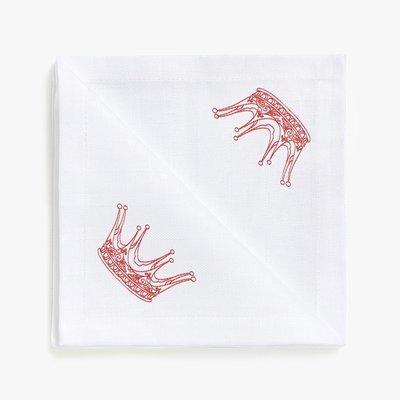 Дизайн машинной вышивки в стиле REDWORK Корона №3