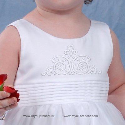 Орнамент Арабеска дизайн машинной вышивки - 5 размеров