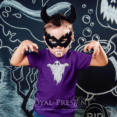 Дизайн машинной вышивки Призрак Хэллоуина