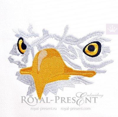 Дизайн для машинной вышивки Голова орла