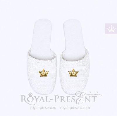 Дизайн машинной вышивки Мини корона бесплатно