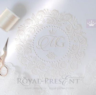Дизайн машинной вышивки Свадебная рамка - 5 размеров