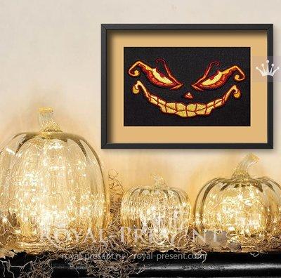 Дизайн машинной вышивки Улыбка Хэллоуина - 3 размера