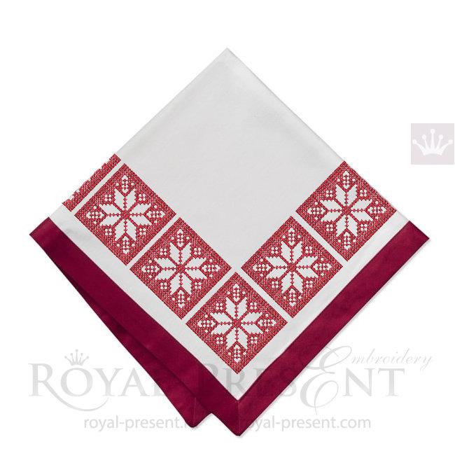Скандинавская Снежинка Дизайн машинной вышивки крестом - 4 размера