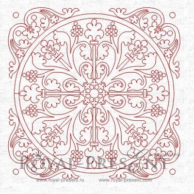 Дизайн машинной вышивки Резной орнамент для квилта