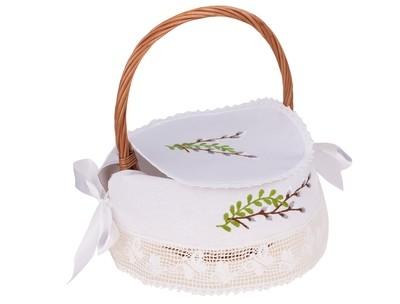 Дизайн машинной вышивки Верба для пасхальной корзинки