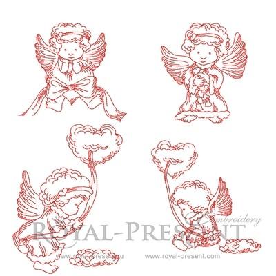 Коллекция дизайнов машинной вышивки - Маленькие Ангелы
