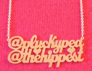 Two Name Tweetheart Necklace