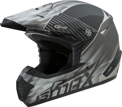 GMAX YOUTH MX-46Y OFF-ROAD COLFAX HELMET MATTE BLACK/SILVER YM
