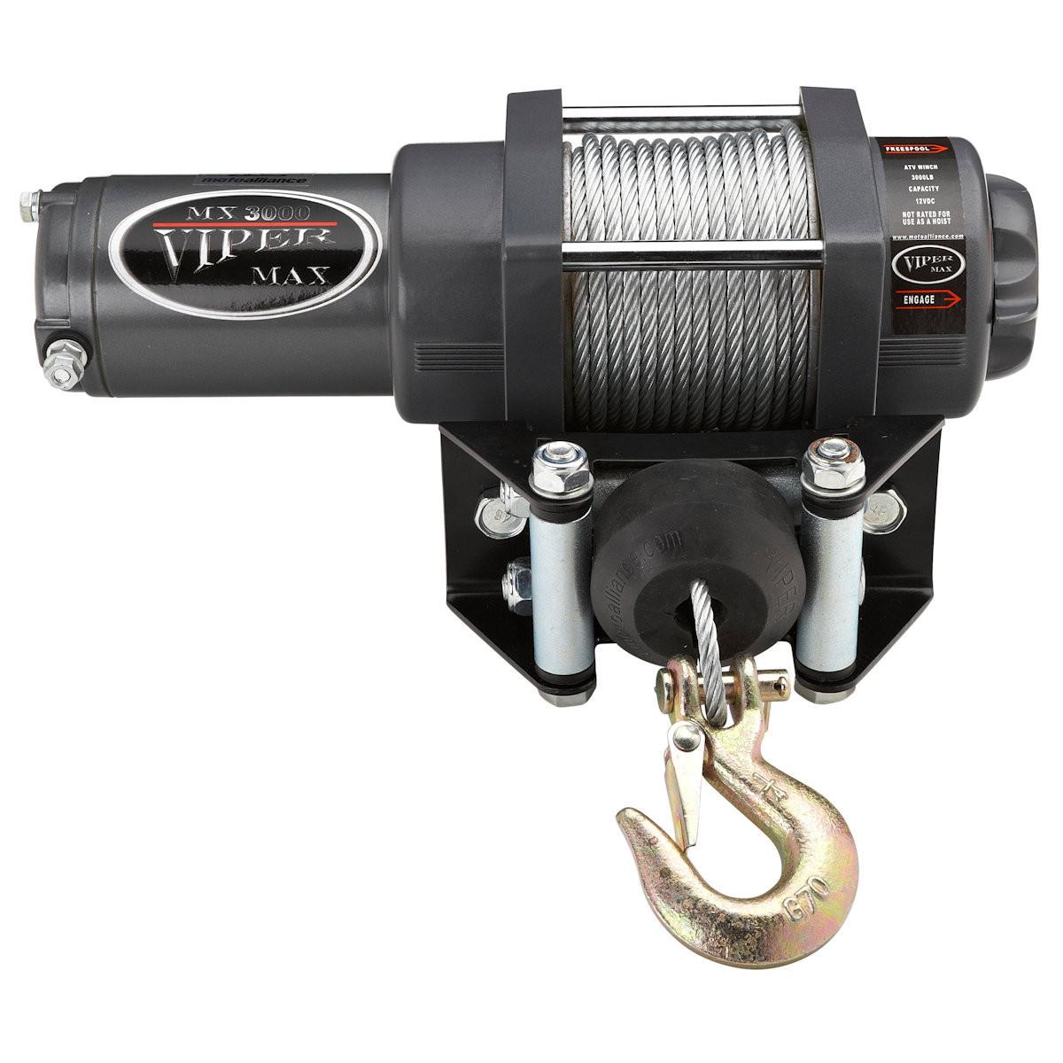 Viper ATV/UTV Winch 3000 - Steel cable