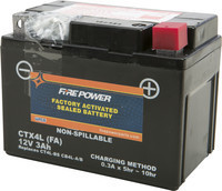 FIRE POWER SEALED FACTORY ACTIVATED BATTERY CTX4L/CT4L