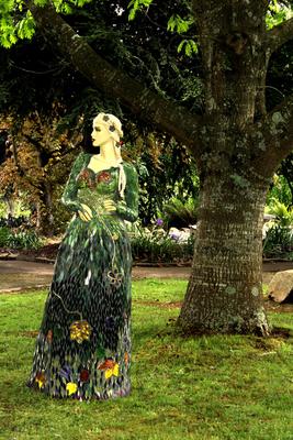 Gaia - Goddess of the Garden Mosaic Sculpture