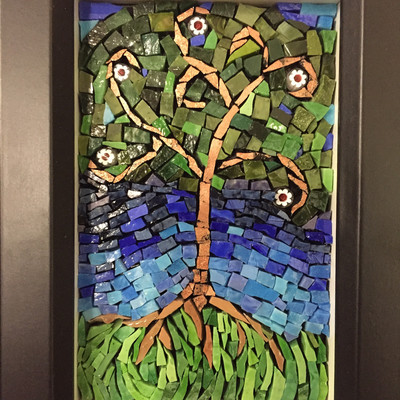 Beautiful Smalti tree of life mosaic
