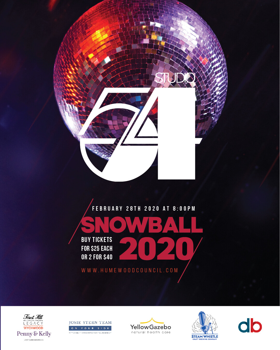 2020 Snowball Tickets - Single Ticket