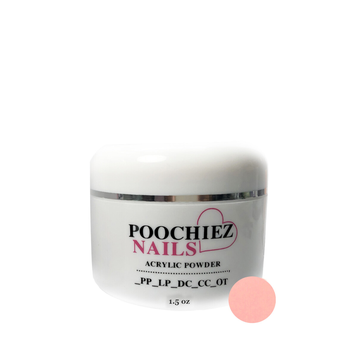 (PA3 ) 1.5 oz POOCHIEZ PINK COVER ACRYLIC