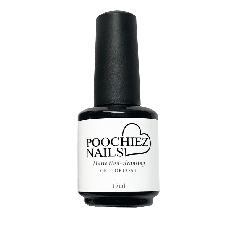 ITEM #34 NEW POOCHIEZ NAILS MATTE UV/LED TOP COAT( KEEP AWAYS FROM SUN LIGHT)