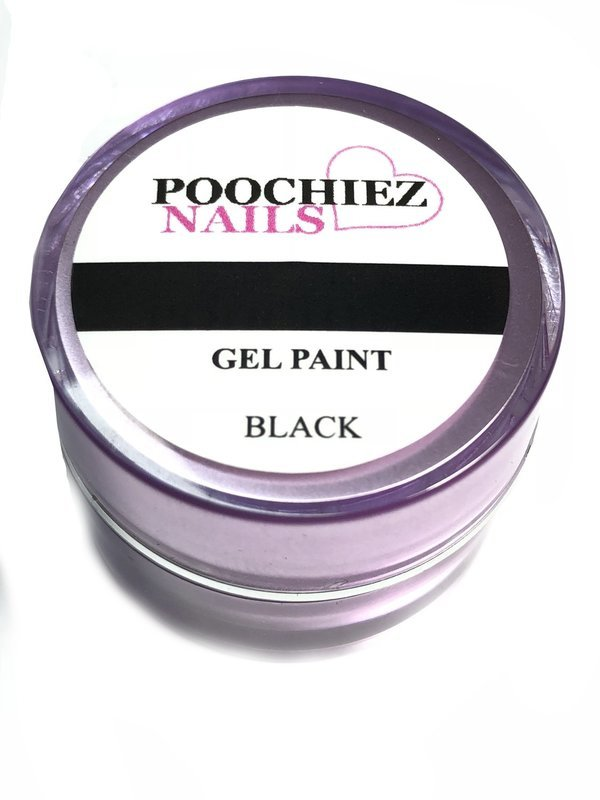 BLACK GEL PAINT 10 GRAMS