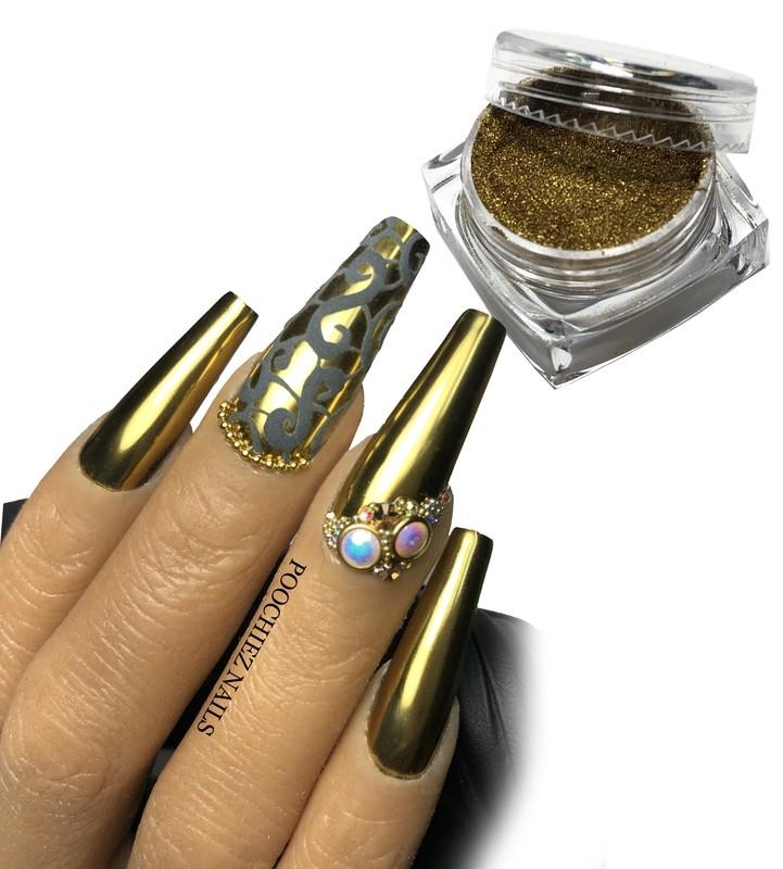 1g GOLD CHROME + SPONGE